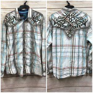 Men's Buckle Brand Roar Snap Button Shirt Sz XXL